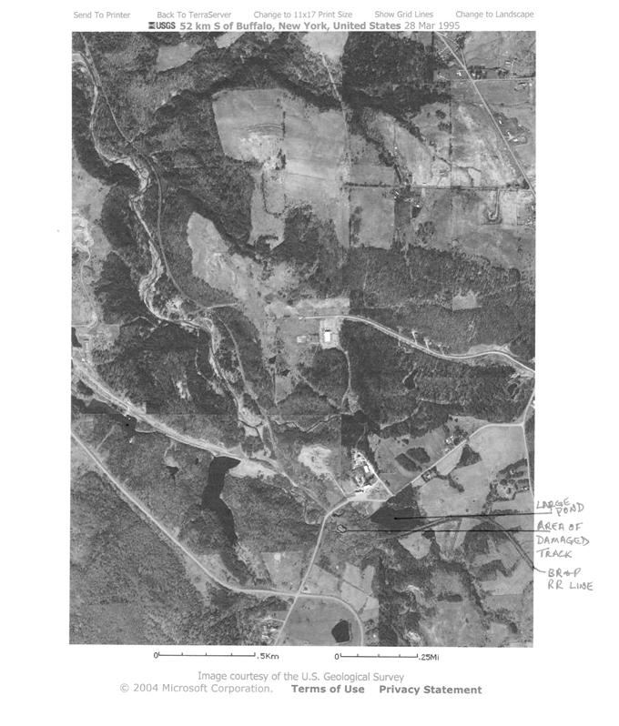 Aerial photo of SE portion of West Valley site