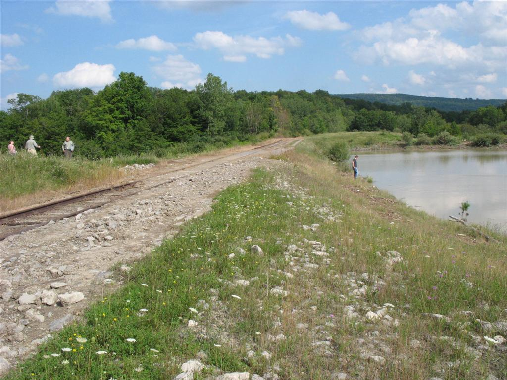 Reservoir #2, looking east, WV site RR spur tracks were overtopped
